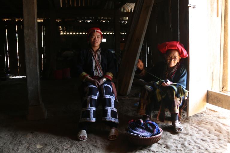 Ma famille d'accueil pour une nuit dans la région de Sapa (Vietnam).