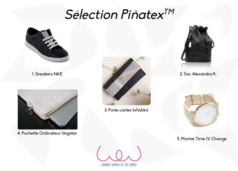 Sélection Piñatex - cuir d'ananas